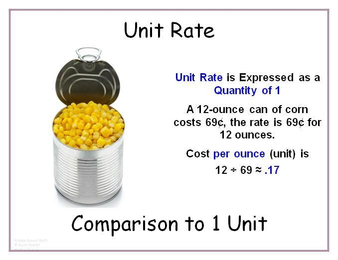 MathUnit2 STEM – Comparing Unit Rates Worksheet